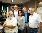 WHUD's Mike Bennett, Kacey Morabito Grean, Steve Petrone, Tom Furci with Bruce Feniger (in back).