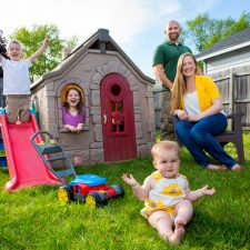 The DiBlanca family at their home in Kingston. Ella will be one year old in August.