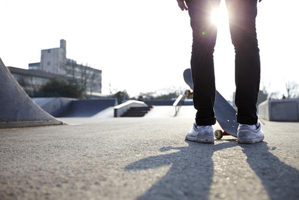 skater at skate park